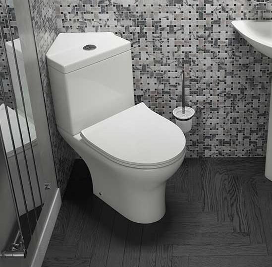 Corner Toilets