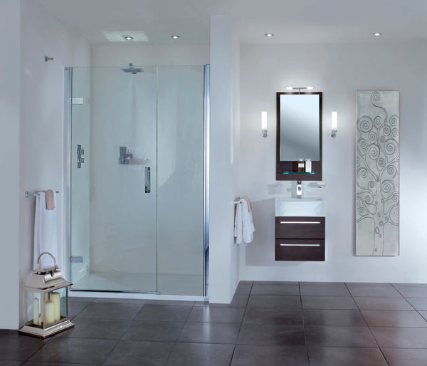 SP457 Hinged Door & Inline Shower Door