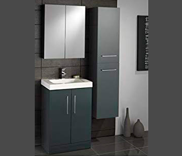 Lomond Tall Storage Unit Anthracite Gloss
