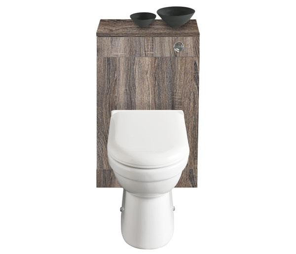 Lomond 500mm WC Unit Truffle Oak