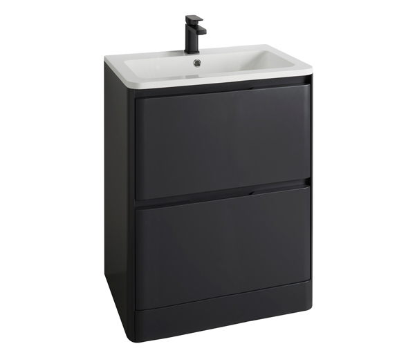 Fife Vanity Unit 600x450mm Black