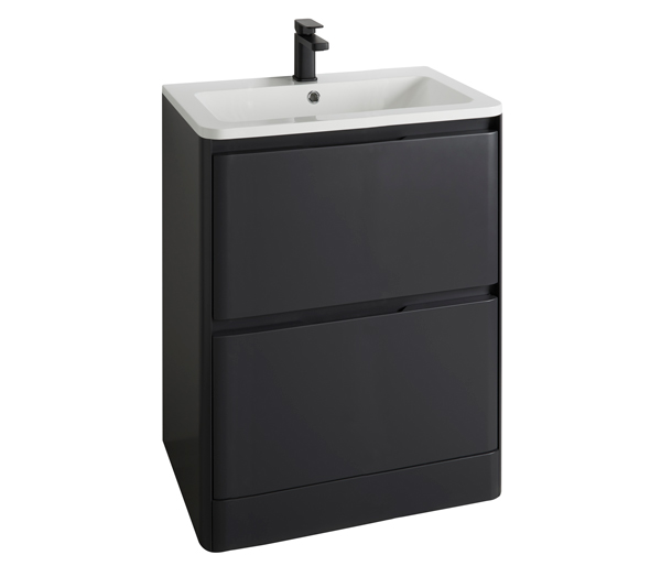 Fife Vanity Unit 800x450mm Black