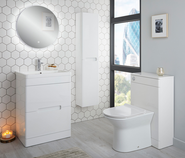 Selkirk Vanity Unit 600x445mm White Gloss