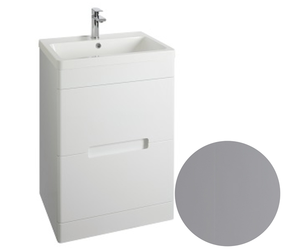Selkirk Vanity Unit 600x445mm Matt Grey