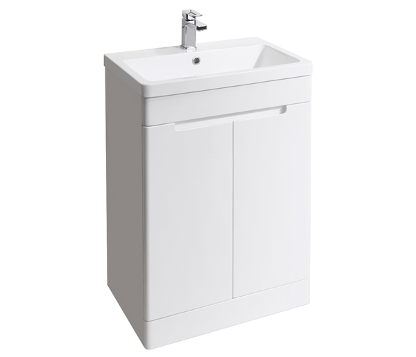Selkirk Vanity Unit 600x445mm Gloss White