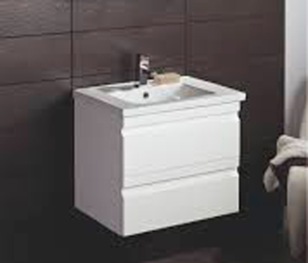 Troon Vanity Unit 600x445mm Gloss White