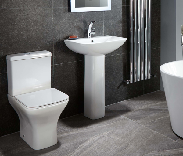 Leven Basin with Full Pedestal 555x445mm