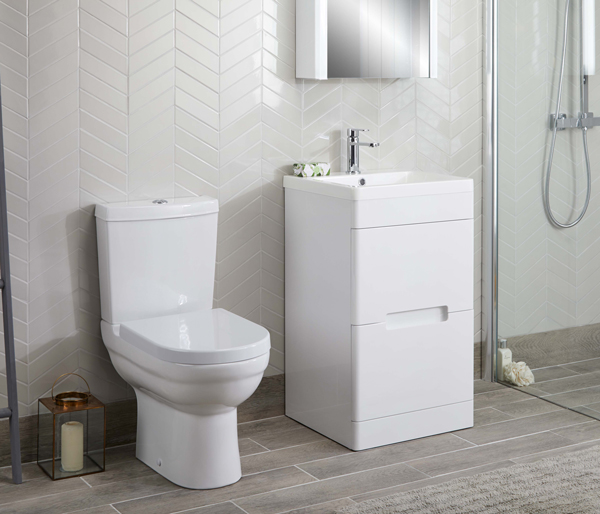 Elgin Close Coupled Toilet + Seat