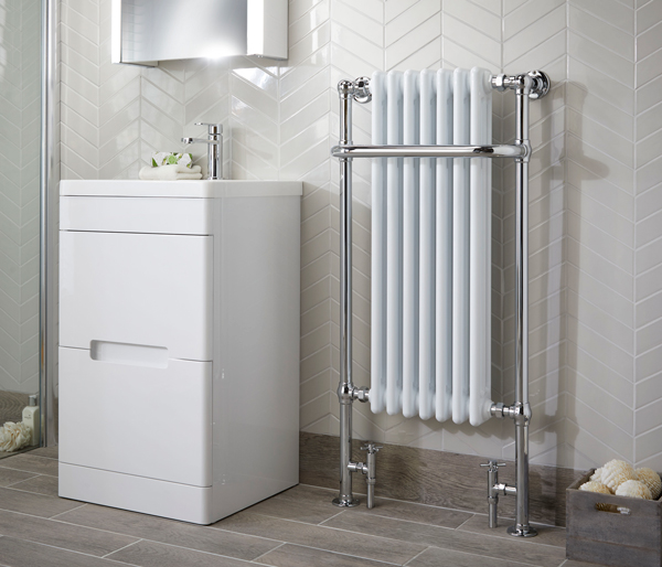 Dunbar Radiator 555x1130mm White/Chrome