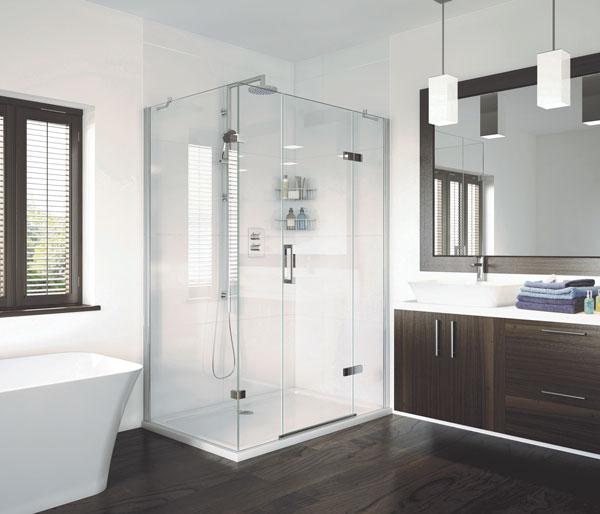 Aqata SP475 1100X900 Hinge Door & Inlines RHC