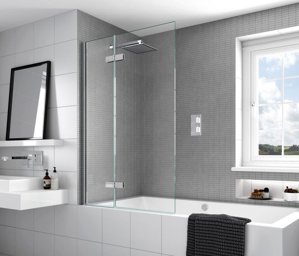 Aqata SP485 Outward Opening Bath Screen LHF