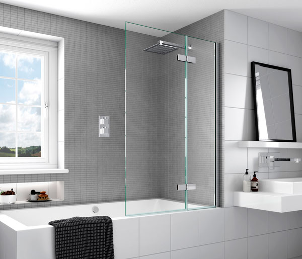 Aqata SP485 Outward Opening Bath Screen RHF