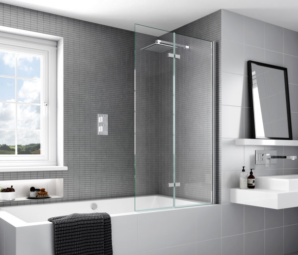 Aqata SP490 Inward Opening Bath Screen RHF