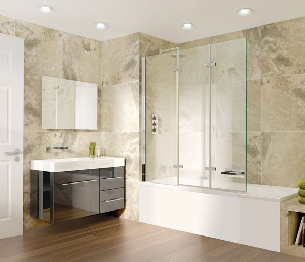 Aqata SP493 Triple Panel Bath Screen LHF