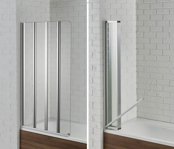 Swiftseal Semi-Framless Bath Screen L/Hand