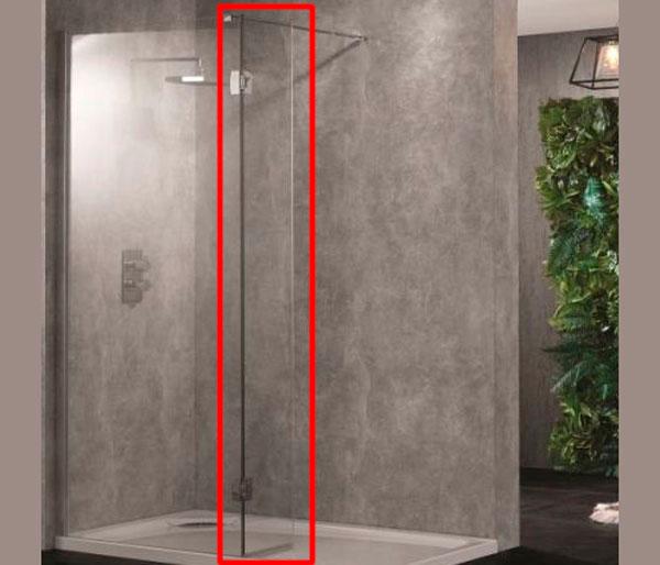 Wetroom10 Return Panel Polished Silver 300mm