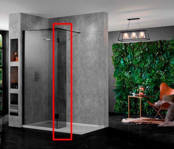 Wetroom10 Return Panel Polished Silver