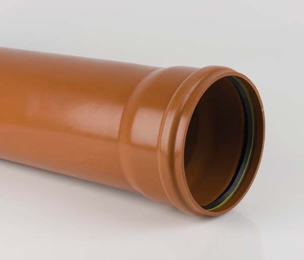 Sewer 250mm 3 Metre Single Socket Pipe