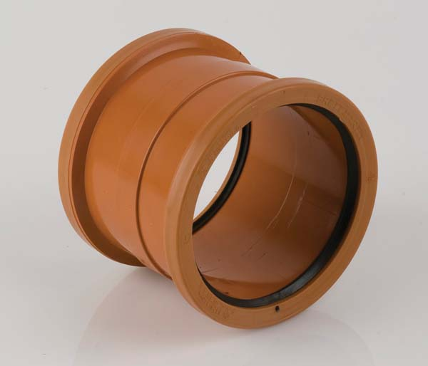 Sewer 250mm Double Slip Socket Coupling