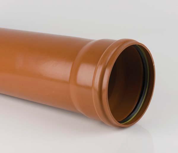 Sewer 315mm 3 Metre Single Socket Pipe