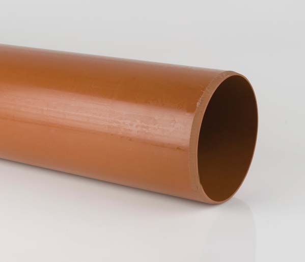 Sewer 400mm 6 Metre Plain Ended Pipe