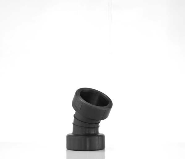 Twinwall 150mm 30\' Double Socket Bend