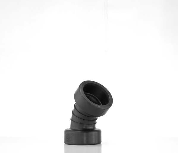 Twinwall 150mm 45\' Double Socket Bend