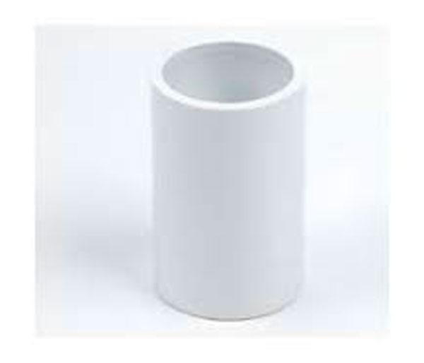 White Overflow Coupler 21.5mm-3/4\