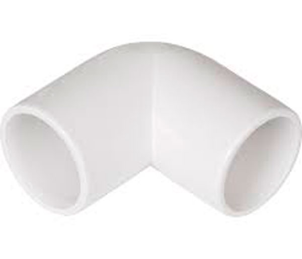White Overflow 90\' Elbow 21.5mm-3/4\