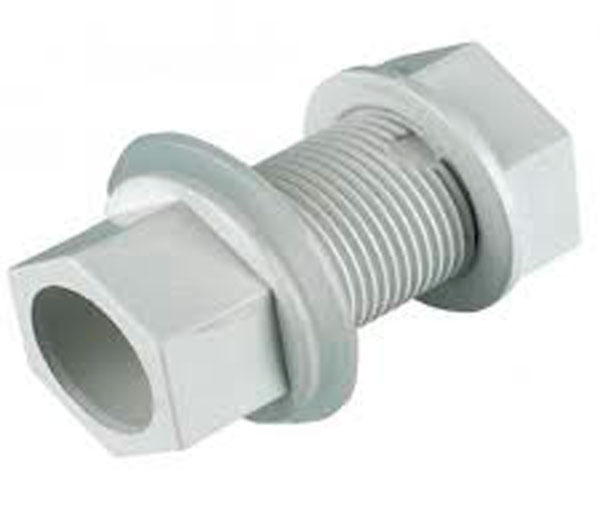 White Straight Overflow Tank Con 21.5mm-3/4\