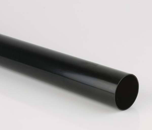 Black 68mm Downpipe 2.5 Metre Length