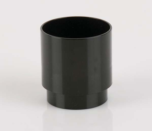 Black 68mm Downpipe Pipe Connector