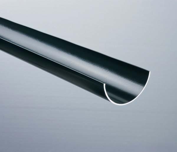 Half Round Gutter 112mm Black 4 Metre Length