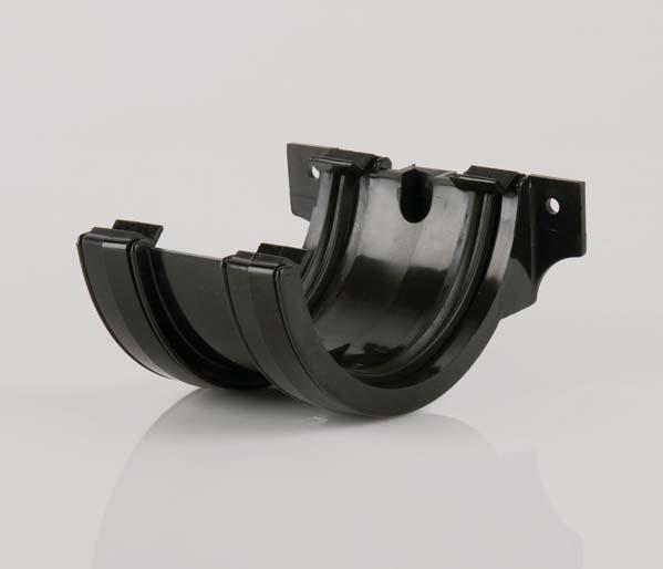 Half Round Gutter 112mm Black Union