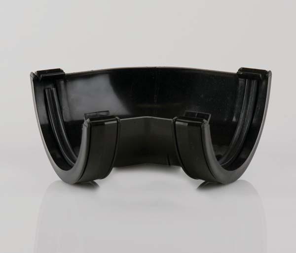 Half Round Gutter 112mm Black 135\' Angle