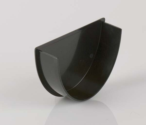 Deepstyle 115mm Gutter Black Internal Stopend