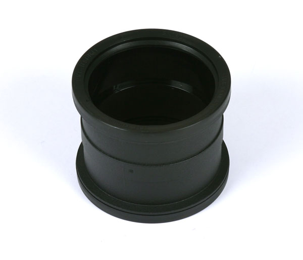 110mm Soil Coupling Black