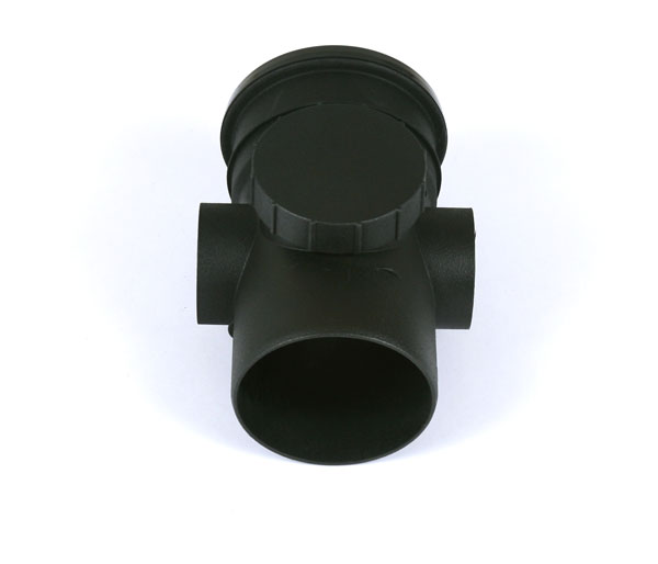 Cascade 110mm Soil Access Pipe Black