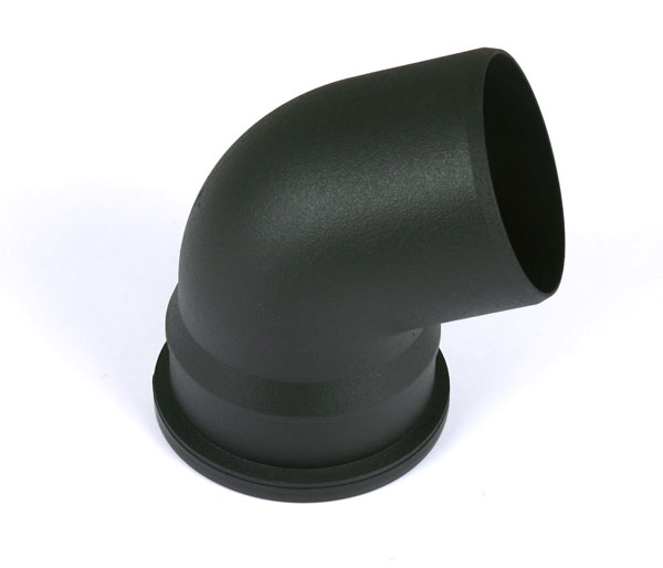 110mm Soil 112\' Bend Single Socket Black