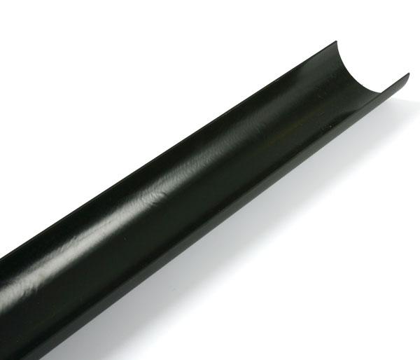 Cascade Half Round Gutter 2m Length Black