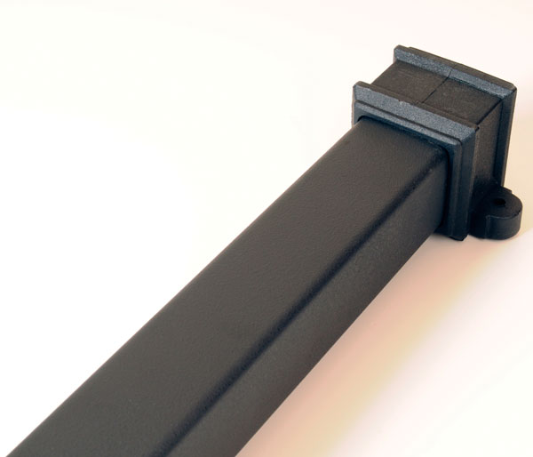 65mm Square Pipe 2.5m Length Black