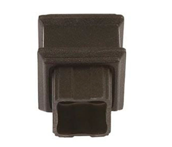 Cascade 65mm Square Pipe Coupler Plain Black