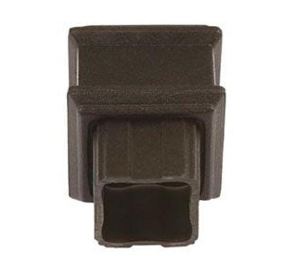 65mm Square Pipe Coupler Plain Black