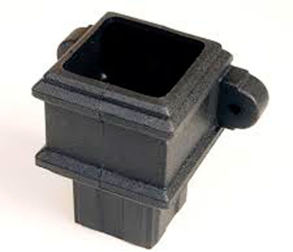 65mm Square Pipe Coupler With Lugs Black