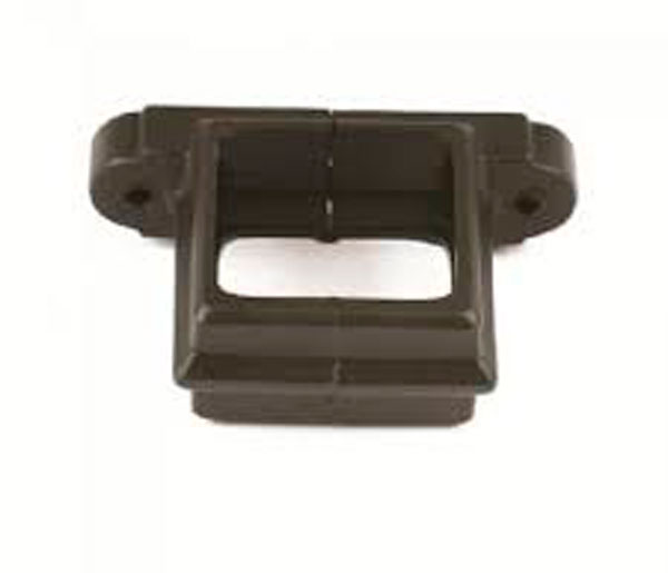 Cascade 65mm Square Pipe Clip Black