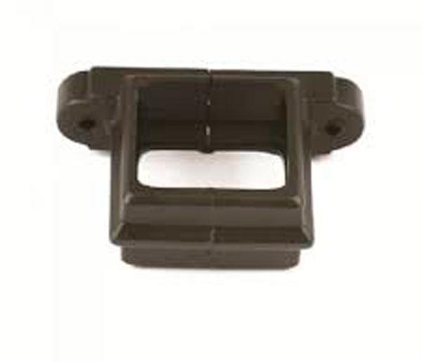 65mm Square Pipe Clip Black