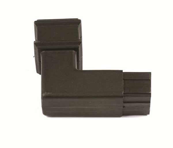 Cascade 65mm Square Pipe 92.5\' Bend Black