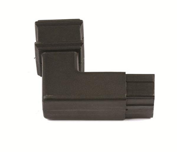 65mm Square Pipe 92.5\' Bend Black