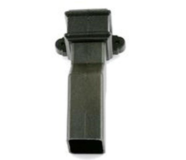 65mm Square Pipe Plinth Offset Black