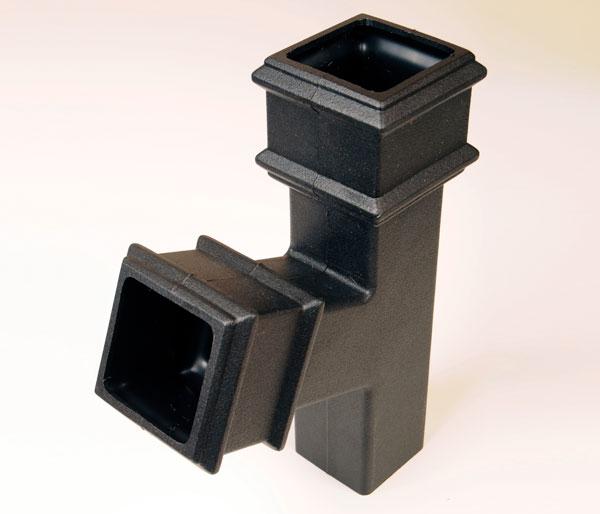 65mm Square Pipe 112\' Tee Black